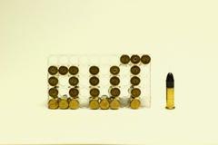 22 пули Стоковые Изображения