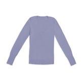 Пуловер v-шеи ` s женщин mauve, изолированный на белизне Стоковые Изображения