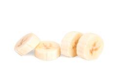 Пульпа банана на белой предпосылке Стоковые Изображения
