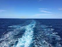 Пульсации в океане Стоковое Изображение RF