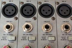 Пульт временных соединительных кабелей аудио Xrl Стоковые Фото