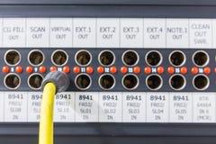 Пульт временных соединительных кабелей который оборудован для передачи Стоковое Фото