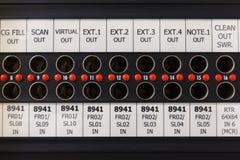 Пульт временных соединительных кабелей который оборудован для передачи Стоковая Фотография RF