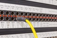Пульт временных соединительных кабелей который оборудован для передачи Стоковое Изображение