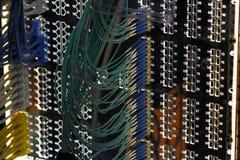 Пульт временных соединительных кабелей сети Стоковые Фотографии RF