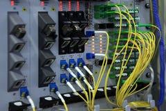 Пульт временных соединительных кабелей Стоковое фото RF
