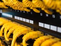 Пульт временных соединительных кабелей Стоковая Фотография