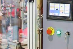 Пульт управления машины для варить стоковое фото