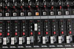 Пульт управления смесителя ядровый стоковые изображения