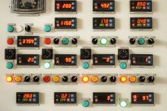 Пульт управления фабрики индустрии Стоковое Фото