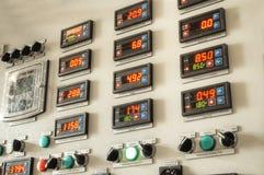 Пульт управления фабрики индустрии Стоковое фото RF