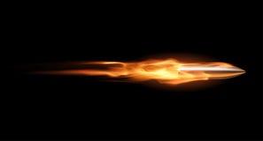 Пуля в пламени Стоковая Фотография RF