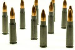 Пуля 7 пункта полости патрона винтовки Ak-47 конспект урожая взгляда со стороны 62x39mm плотный Стоковые Фото