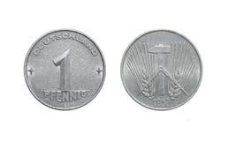 Пфенниг 1952 Германия монетки 1 - ГДР Стоковая Фотография RF