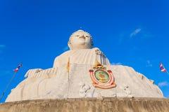 Пхукет большой Будда в голубом небе стоковое изображение
