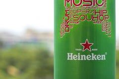 ПХУКЕТ, ТАИЛАНД 20-ое января 2018 - новая бутылка пчелы Heineken Стоковое Изображение