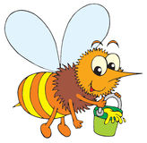 Пчела (зажим-искусство вектора) иллюстрация штока