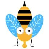 Пчела изолированная на белой предпосылке также вектор иллюстрации притяжки corel бесплатная иллюстрация