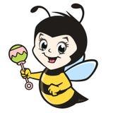 Пчела младенца шаржа Стоковые Фото