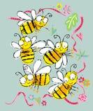 пчела ребячья Стоковая Фотография