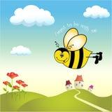 пчела счастливая Иллюстрация штока