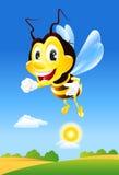 пчела счастливая иллюстрация вектора
