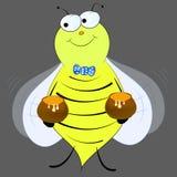 Пчела с вектором меда Стоковые Фотографии RF
