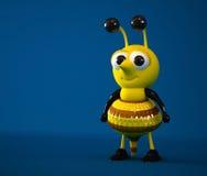 пчела 3d милая Стоковое Фото