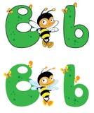 Пчела b письма Стоковые Изображения