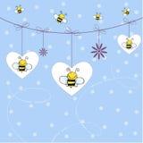 пчелы предпосылки Иллюстрация вектора