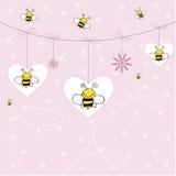 пчелы предпосылки Иллюстрация штока