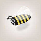 Пчела летания изоляции с тенью также вектор иллюстрации притяжки corel Стоковые Фото