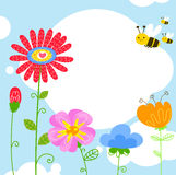Пчела и цветок Стоковые Фотографии RF