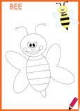 Пчела книжка-раскраски Стоковые Изображения