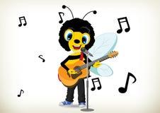 Пчела музыканта Стоковые Изображения