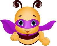 Пчела супергероя летания Стоковые Изображения