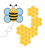 Пчела с гребнем меда Стоковое фото RF