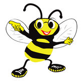 Пчела с стеклами Стоковое фото RF