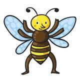 Пчела также вектор иллюстрации притяжки corel Стоковая Фотография