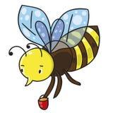 Пчела также вектор иллюстрации притяжки corel Бесплатная Иллюстрация