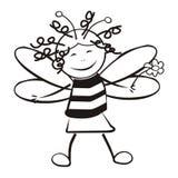 Пчела улыбки Стоковые Фотографии RF