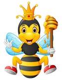 Пчела шаржа держа мед Стоковые Фото