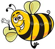 Пчела 04 шаржа Стоковое фото RF