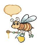 Пчела шаржа Стоковое Изображение