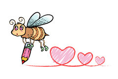 Пчела шаржа Стоковые Фото