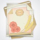пшеница бумаги grunge уха Стоковые Фото