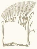пшеница виньетки муки Стоковые Фото
