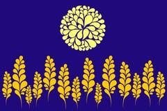 пшеница восхода солнца поля Иллюстрация штока