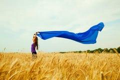 пшеница девушки поля предназначенная для подростков Стоковые Изображения