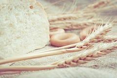 Пшеница и разведено на ткани стоковое фото rf